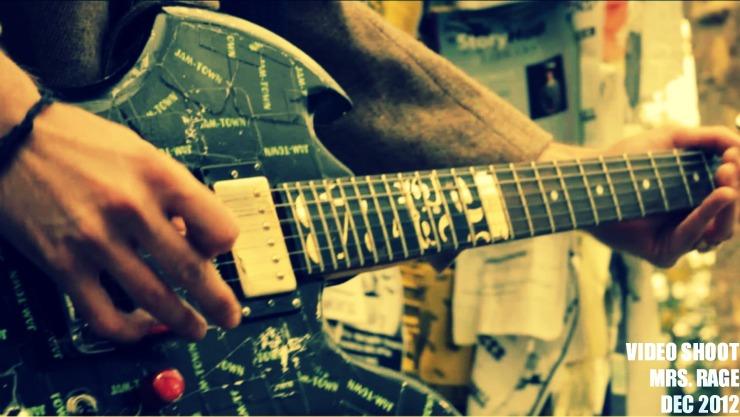 mrs. rage video shoot guitar