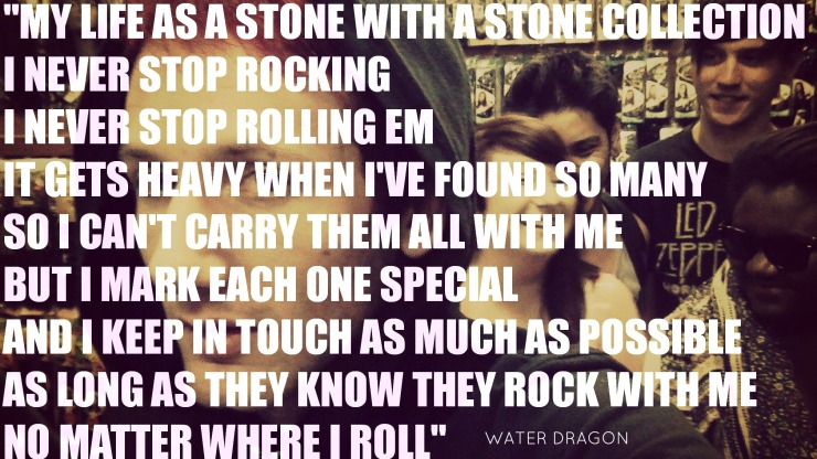 my life as a stone with a stone collection jamey blaze memes