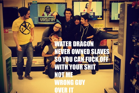 water dragon never owned slaves
