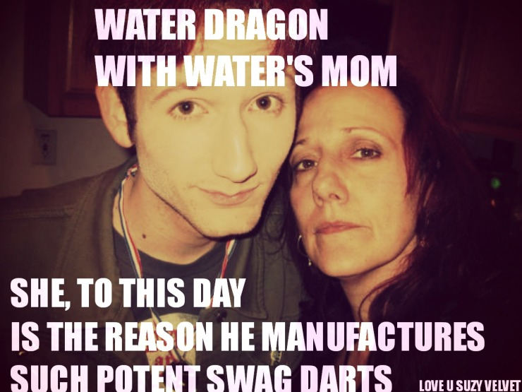 water dragon with waters mom