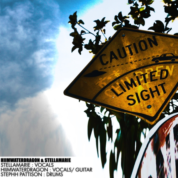hiimwaterdragon stellamarie - caution limited sight (2014) album cover cat lounge esther barnes melanie jamey blaze