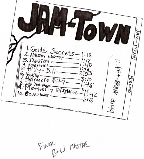 jam-town purlmo (jamey blaze band 2004 album back cover jonathan hoffman art antioch high school california musician guitar music james marshall pattison