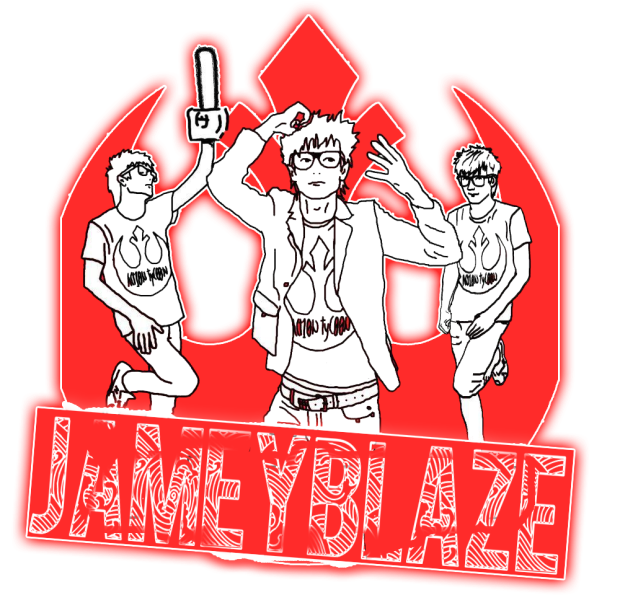 jamey blaze logo emblem symbol red rebel alliance star wars adam house party devine