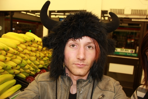 jamey jean blaze jamey blaze hat guy dude man boy horn black banana 7 11 2012