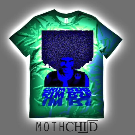 mothchild moth child green grim bzns shirt album cover single band bay area electropunk musical genre