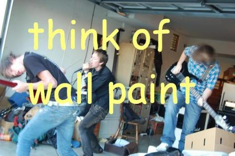 think of wall paint live band guitar screamer bass nathan furtado jacob broughton jake jamey blaze vocals james jean music artist underground california hardcore experimental garage