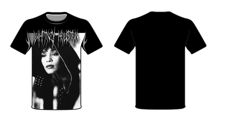 whitney houston metal t shirt