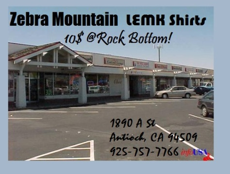 zebra mountain LEMK rock bottom records antioch ca mortal kombat shirts