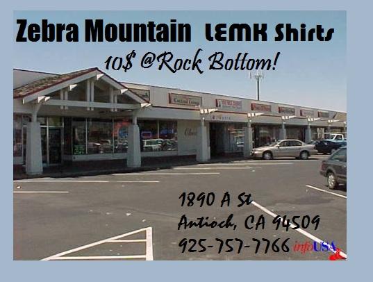 zebra mountain LEMK rock bottom records antioch ca mortal kombat shirts