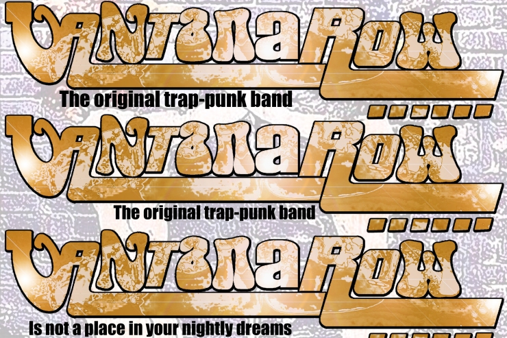 vantana row band slogan promo slip card gold the original trap-punk band is not a place in your nightly dreams