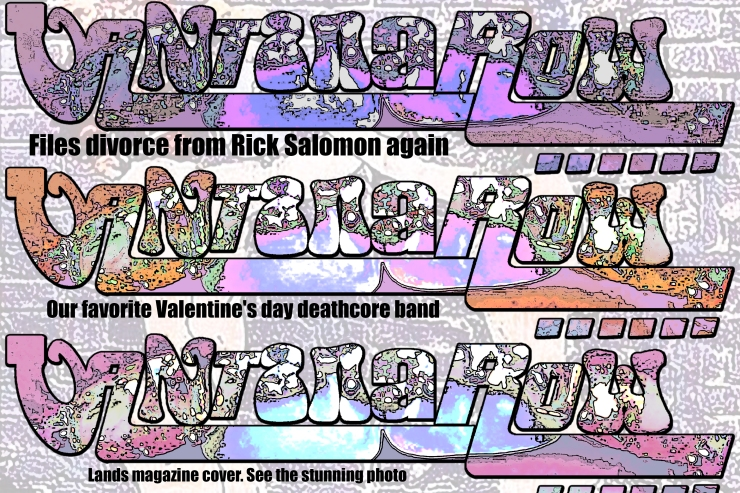 vantana row band slogan promo slip card purple pink orange files divorce from rick salomon again our favorite valentines day deathcore band lands magazine cover see the stunning photo