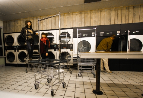 vantana row berkeley california laundromat with random guy doing his clothes