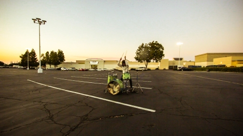 vantana row drums jamey blaze outside mall parking lot video shoot