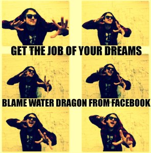 jamey blaze get the job of your dreams blame water dragon from facebook