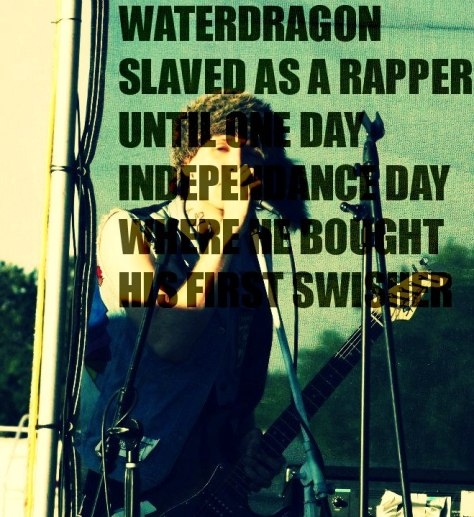 jamey blaze waterdragon slaved as a rapper until one day independance day where he bought his first swisher