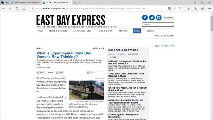 east bay express vantana row