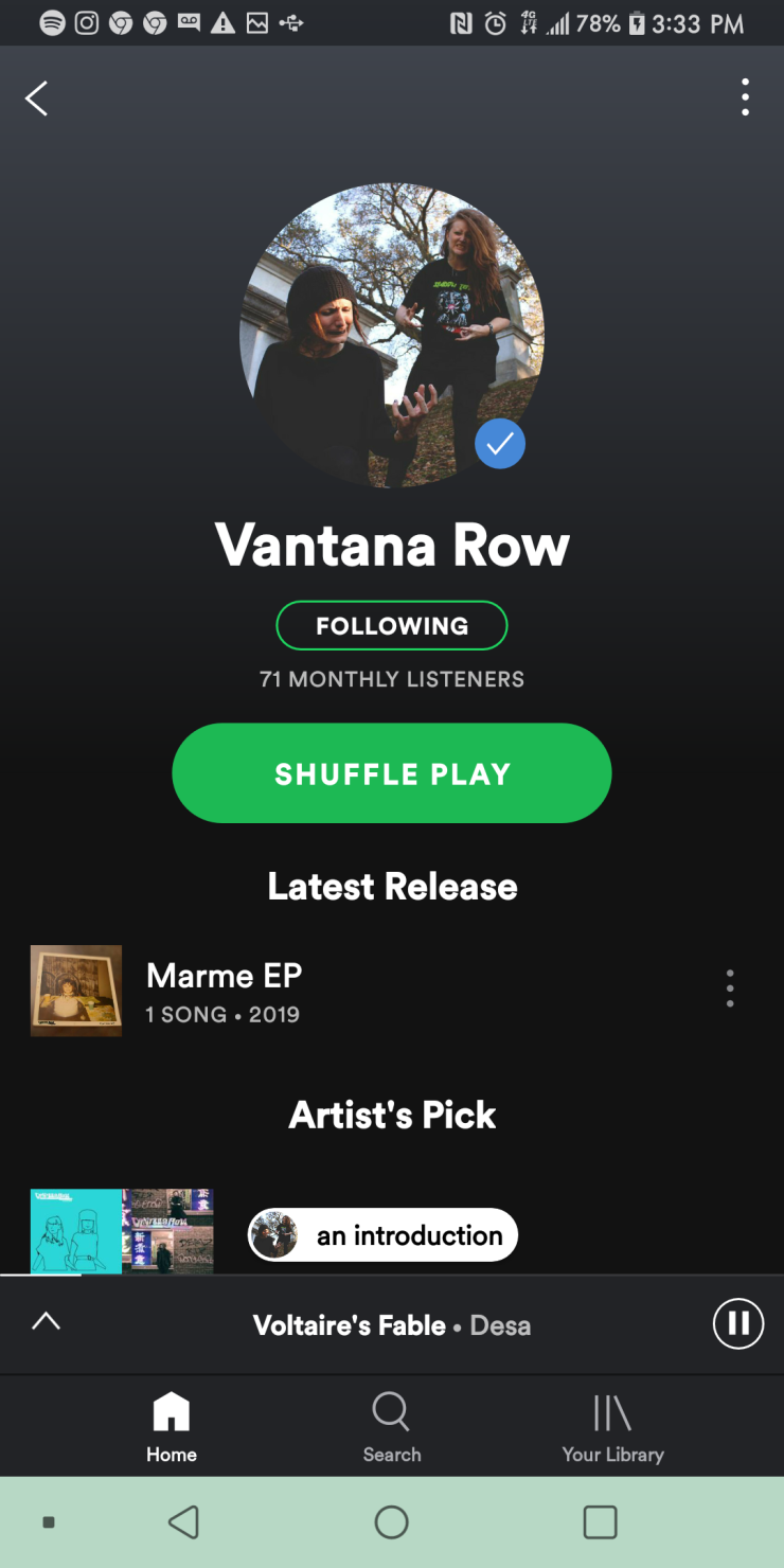 Vantana Row Spotify related artists to Vantana Row are see you space cowboy Spotify machine girl Spotify vantana row spotify