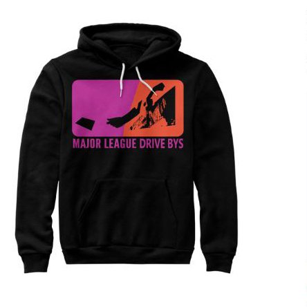 mldb hoodie black sweater drive by show gear major league drive bys clothing apparel vantana row teespring shop trap punk merch store ventana row band tee