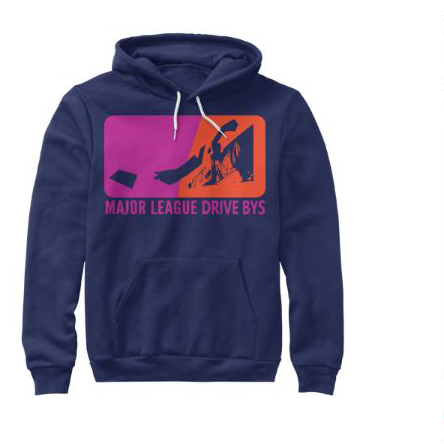 mldb hoodie blue sweater drive by show gear major league drive bys clothing apparel vantana row teespring shop trap punk merch store ventana row band tee