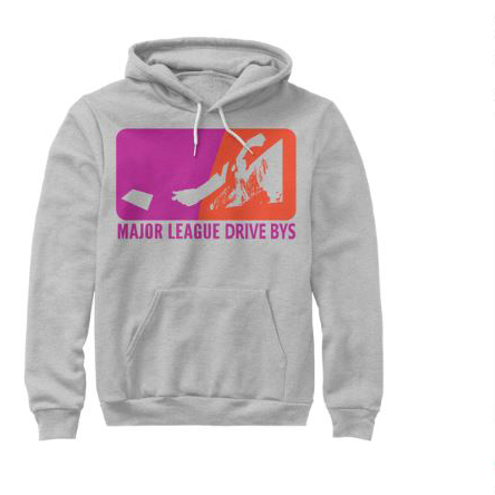 mldb hoodie grey sweater drive by show gear major league drive bys clothing apparel vantana row teespring shop trap punk merch store ventana row band tee