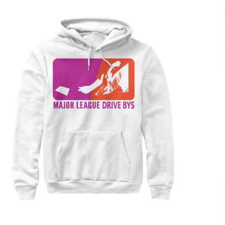 mldb hoodie white sweater drive by show gear major league drive bys clothing apparel vantana row teespring shop trap punk merch store ventana row band tee