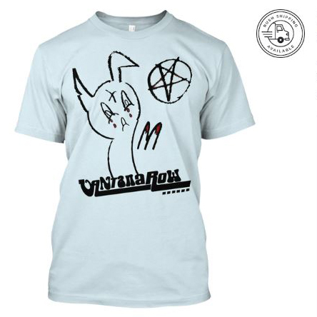 satanic easter bunny t shirt blue seasonal vantana row teespring shop trap punk merch store ventana row band tee