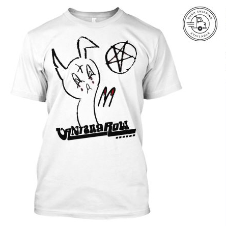 satanic easter bunny t shirt white seasonal vantana row teespring shop trap punk merch store ventana row band tee