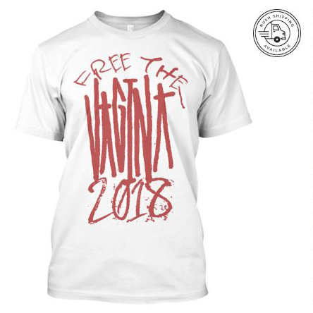 vantana row free the vagina 2018 tour white shirt teespring trap punk merch store ventana row band