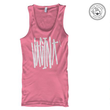 pink vagina tank top vantana row album merch apparel fifth release porn is not good punk band emo trap slc