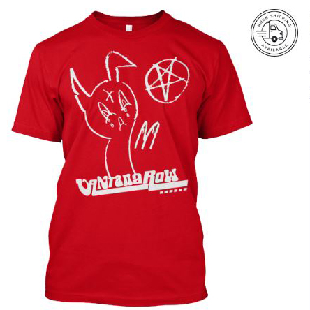 satan ball z series easter bunny red shirt vantana row pentagram heavy metal grindcore teespring shop trap punk merch store band tee