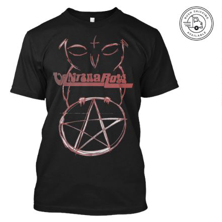 satan ball z series owl red pentacle vantana row black shirt heavy metal grindcore merch bird love band tee