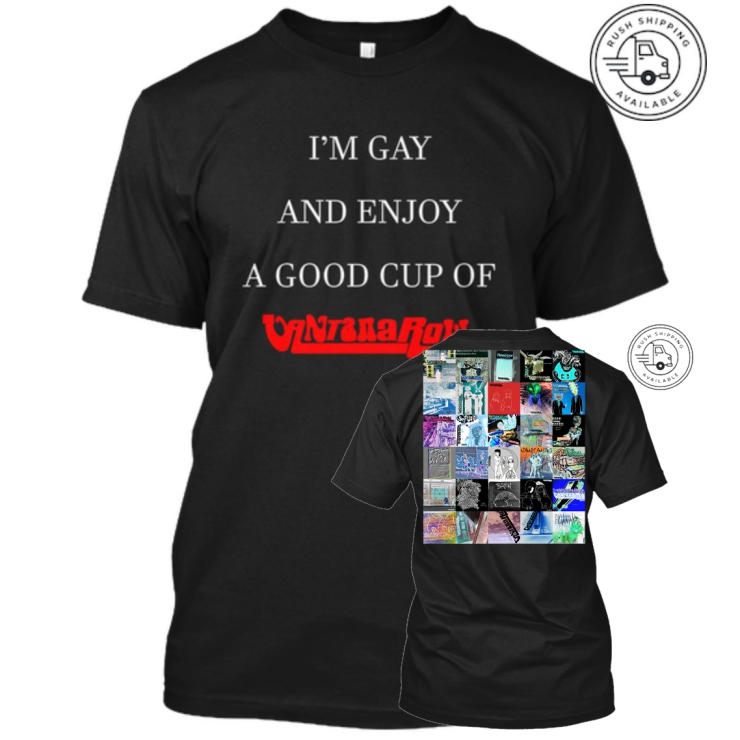 black gay shirt vantana row discography merch