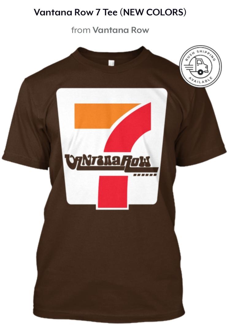 vantana row 7 seven shirt convenience store vibes brown shirt tee grindcore vaporwave