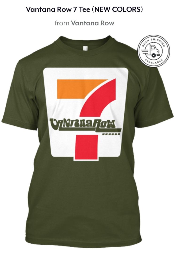 vantana row 7 seven shirt convenience store vibes green shirt tee grindcore vaporwave